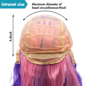 Rainbow Wig Headdress Adult Colorful Wig Role Playing