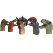 5PCS Realistic Dinosaur Finger Puppets Set Kids Role Playing Toy Tell Story Prop for Child Kids - 3 Otters