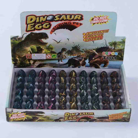 Black Cracked Dinosaur Egg Hatching Grow Up Toy - 3 Otters