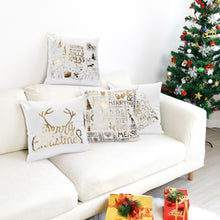 Load image into Gallery viewer, Hot-stamped Snowflakes Christmas Decorative Sofa Pillowcase