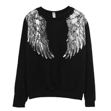 Load image into Gallery viewer, Silver Sequins Angel Wings