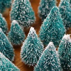 Mini Sisal Snow Frost Trees - 3 Otters