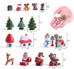 Fairy Garden Supplies Lovely Miniature Ornaments Fairy Garden Accessories Small Christmas Ornaments - 3 Otters