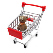 Mini Supermarket Handcart, Shopping Cart Shopping Utility Cart Mode Desk Storage Toy Holder Desk Accessory, Color Random - 3 Otters