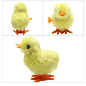 Wind Up Toy, Easter Toy Wind-Up Jumping Chicken Plush Chicks Toys Novelty Toys for Party Favors , Yellow, 12 PCS