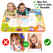 Aqua Magic Mat, Kids Painting Writing Doodle Board Toy, Coloring Painting Educational Writing Pad, Aged 2-12, 40X 28inch - 3 Otters