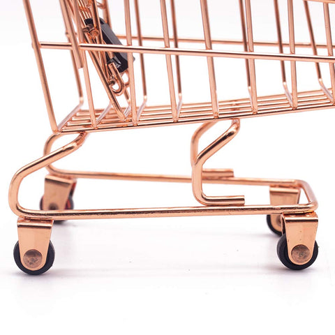 Mini Brands Shopping Cart, 2PCS Shopping Day Grocery Cart Mini Supermarket Handcart Toy Shopping Carts - 3 Otters