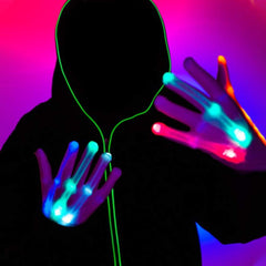 Led Gloves Lightshow Dancing Gloves for Clubbing,Dance Costumes Toys for 9-10 Year Old Boys - 3 Otters