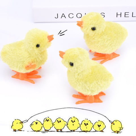 Wind Up Toy, Easter Toy Wind-Up Jumping Chicken Plush Chicks Toys Novelty Toys for Party Favors , Yellow, 12 PCS - 3 Otters
