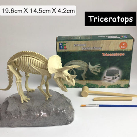 Dinosaur Fossil Kit,Excavate Fossils Dinosaur Bones,Gifts for 6 Year Old Boy,5 Year Old Boy Gifts - 3 Otters