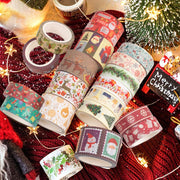 "Christmas Washi Tape Set, 12Rolls Merry Christmas Masking Tape Decorative Duct Tape for Xmas Decorations Christmas Party Favors Supplies, 0.6"" x 23ft"