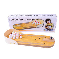 Mini Bowling, Wooden Desktop Tabletop Bowling Indoor Bowling Toy Classic Desk Ball Board Toy