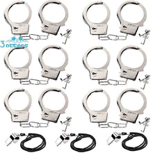 Load image into Gallery viewer, Kids Police Metal Handcuffs with Keys and Release (9PCS )