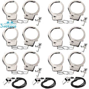 Kids Police Metal Handcuffs with Keys and Release (9PCS ) - 3 Otters