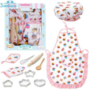 Kids Chef Costume Set, Toddler Cooking and Baking Set with Apron
