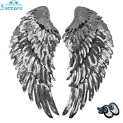 Silver Sequins Angel Wings - 3 Otters