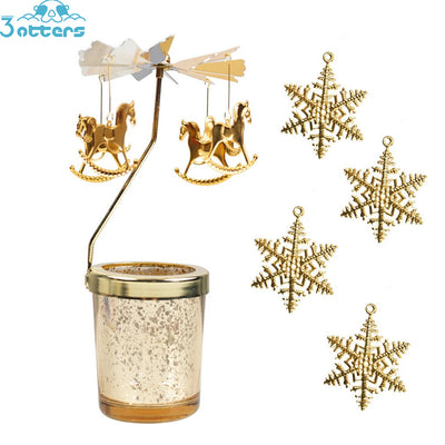 Christmas Rotating Candle Holder