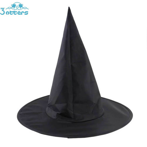 Black Hogwarts Magic School Wizard Student Witch Hat - 3 Otters
