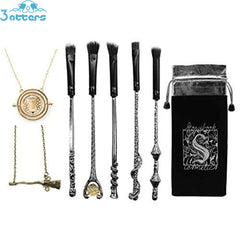 Iron Harry Potter Wizard Wand Makeup Brushes 5 Set - 3 Otters