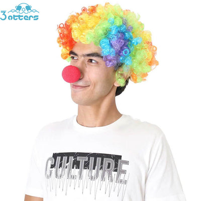 Rainbow Wig Clown Costume Circus Costume - 3 Otters