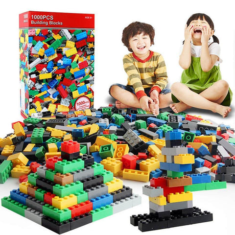 Bulk Building Bricks Set, Classic Creative Building Blocks Birthday Gift for Kids - 3 Otters