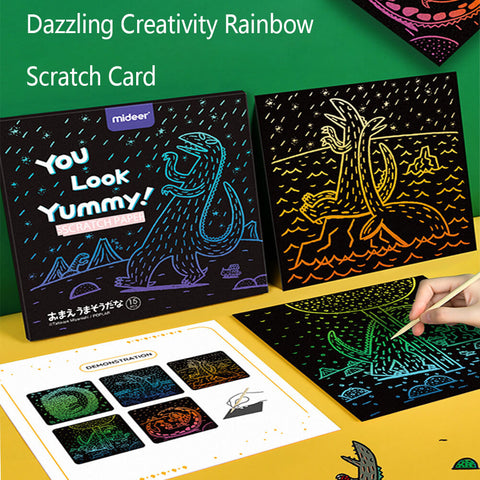 3otters Dazzling Creativity Rainbow Scratch Card