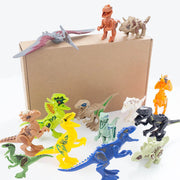 Dinosaur Building Blocks Toys for Kids, 14Pcs Inspired Dinosaur Puzzle Blocks - 3 Otters