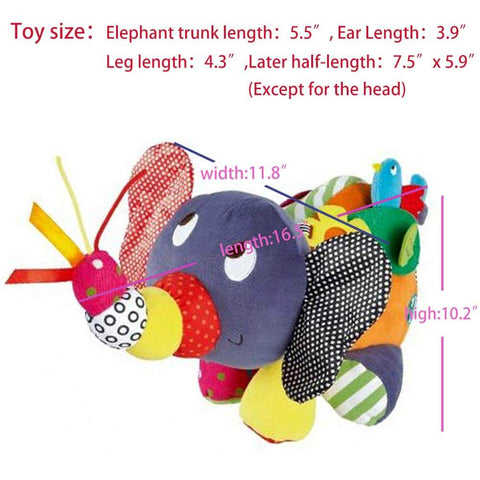 Infant Elephant Plush Toy, Baby Development Toys Stuffed Animals & Teddy Bears - 3 Otters