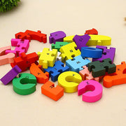 Children Wood Jigsaw Puzzles, Alphabet & Number & Animal Blocks Puzzle - 3 Otters