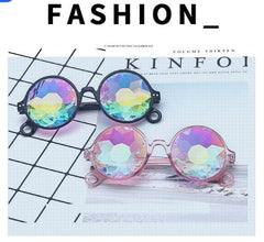 Kaleidoscope Glasses, 4PCS Rainbow Prism Sunglasses - 3 Otters