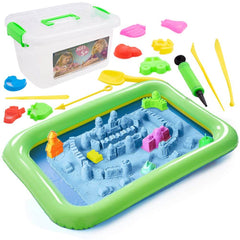 Sand Tray Toys, Magic Sand Play Kit with 45 Pcs - 3 Otters
