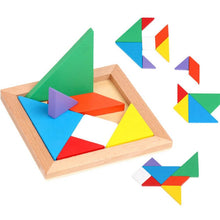 Load image into Gallery viewer, Wooden Tangram Puzzle Set