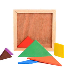 Load image into Gallery viewer, Kids Wooden Tangram Puzzle