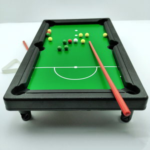 Mini Tabletop Pool Set- Billiards Game Includes Game Balls Chalk Sticks Brush and Triangle-Portable and Fun for the Whole Family by Hey Play!