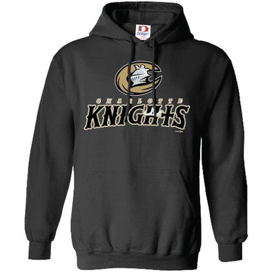 Charlotte Knights Black Youth Primary Hoodie