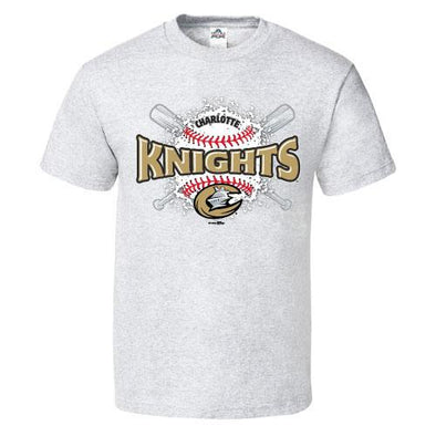 Charlotte Knights Youth Ash Slippery Tee
