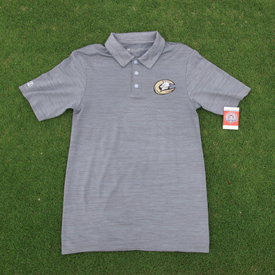 Gray Heathered Texture Polo