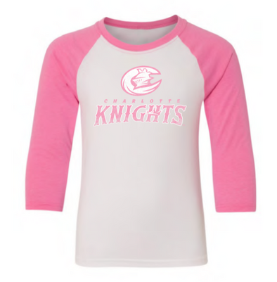 Youth Girls Pink Raglan