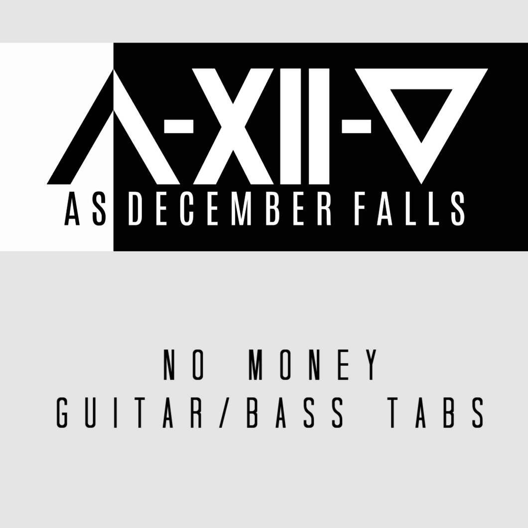 No Money - Guitar, Bass and Drum Tabs and Instrumental Track