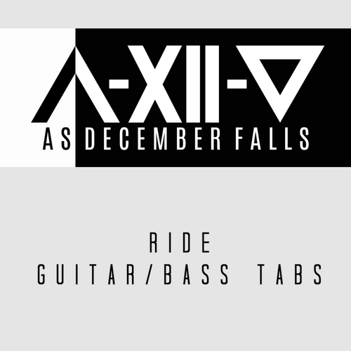 Ride - Guitar and Bass Tabs and Instrumental Track
