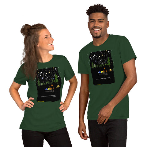 "Unisex ""The Heavens Declare the Glory of God"" t-shirt - One-hundred Eleven Artwear"