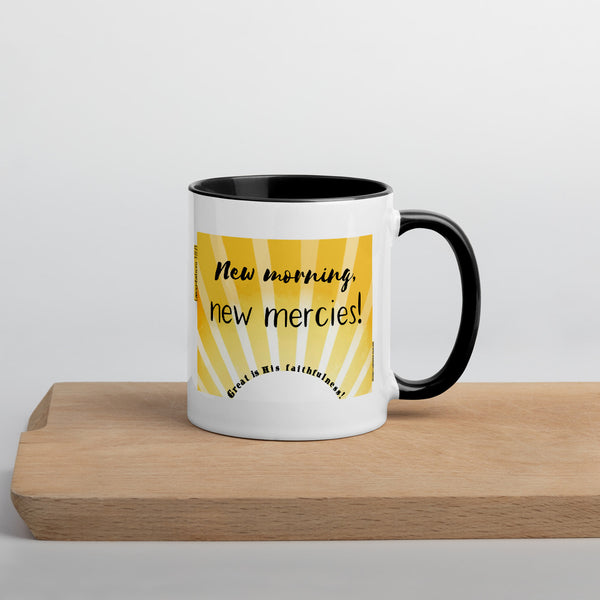 """New morning, new mercies!"" 11 oz coffee mug - One-hundred Eleven Artwear"