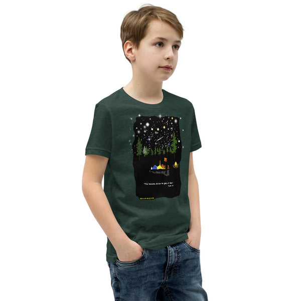 "Youth ""The Heavens Declare the Glory of God"" t-shirt - One-hundred Eleven Artwear"