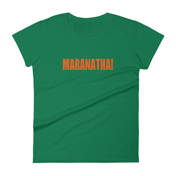 "Ladies' ""MARANATHA!"" tee with front and back designs - One-hundred Eleven Artwear"