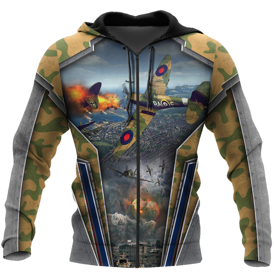 Air Force Aircraft Supermarine Spitfire 3D All Over Printed Shirts for Men and Women AM170101 - Amaze Style™-Apparel