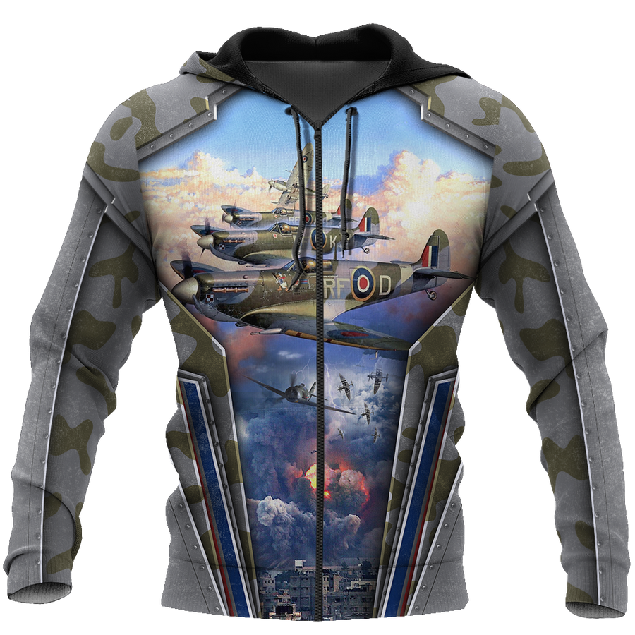 Air Force Aircraft Supermarine Spitfire 3D All Over Printed Shirts for Men and Women AM160102 - Amaze Style™-Apparel