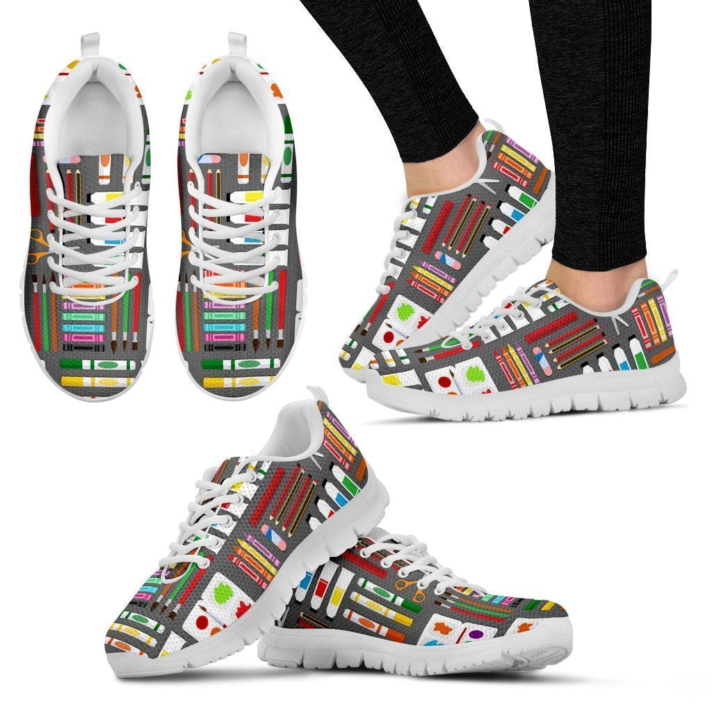 Arts & Crafts Women's Sneakers (White) - Amaze Style™-