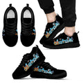 Australia Shoes With Symbol Sneakers Black/White NN8 - Amaze Style™-SNEAKERS