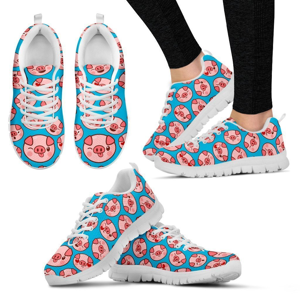 Custom Hand Made Pig Women's Sneakers - Amaze Style™