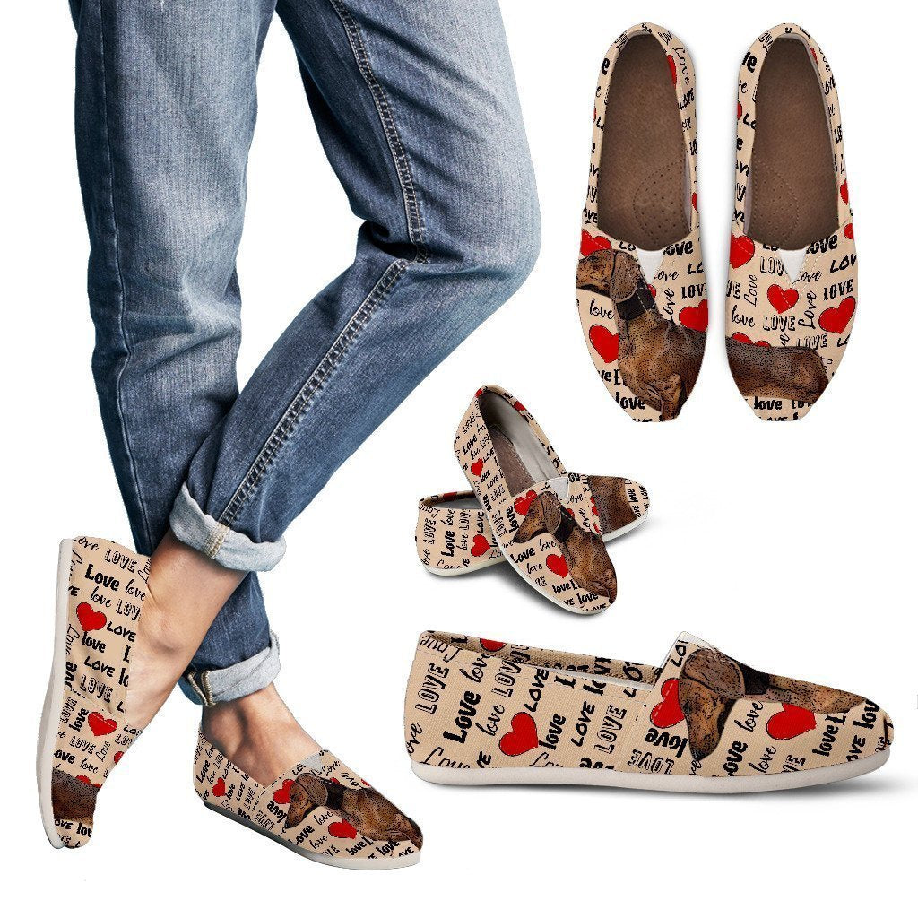 Dachshund Love Women`s Casual Shoes - Amaze Style™-